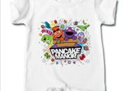 Baby onesie romper featuring Pancake Manor