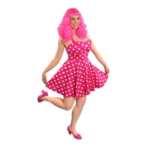 Pancake Manor Retro Dresses Mama Reb Pink Polka Dot Vintage Style Fashion