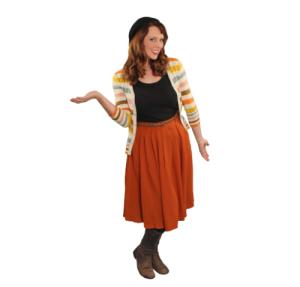 Pancake Manor Retro Dresses Mama Reb Orange Skirt Cardigan Vintage Style Fashion
