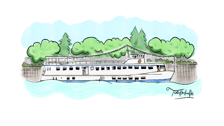 flotte weser pancake manor hamelin pied piper boat ride river germany